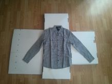 Chemise Noir & Blanc H&M (S)