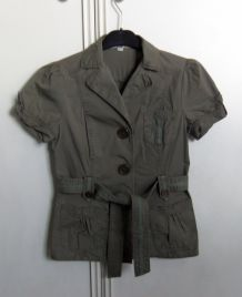 Chemise type militaire avec ceinture