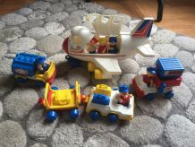 LIL PLAYMATES - AIRLINES - JET CARGO - PASSENGERS AIRPLANE - CARS - PIECES