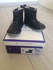Bortines cuir fille T.20
