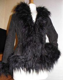 Manteau Glamour Dégriffée façon peau lainée Taille S