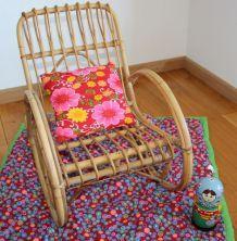 fauteuil rocking chair en rotin