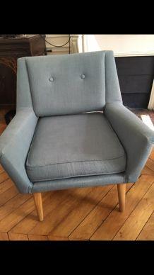 Deux fauteuils style vintage