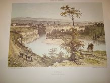 """LITHOGRAPHIE """"RUMILLY"""" COLLECTION NICE ET SAVOIE"""
