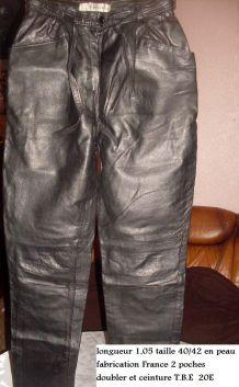 pantalon en cuir veritable