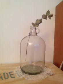 Bonbonne à anse vintage transparente