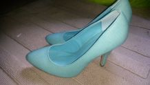 Escarpins turquoise