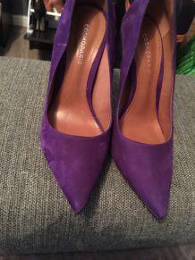Escarpins  daim violet Cosmoparis
