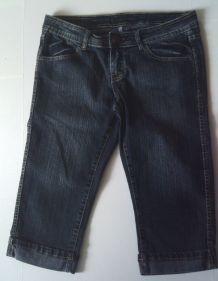 Pantacourt Jean Bleu Taille 38