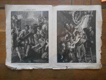 VIEUX PAPIER  Mohrenheim LA SEMAINE SAINTE ET PARTITION LES BEATITUDES AVRIL 1893 supplément aux anales politiques et littéraires