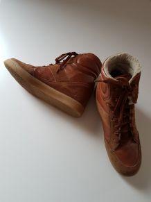 Baskets montantes marron