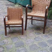 Ensemble de 2 fauteuils années 40