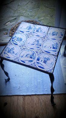 Table faïence hollandaise