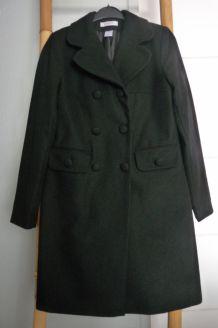 Manteau femme, noir, en laine Mademoiselle R, T 38
