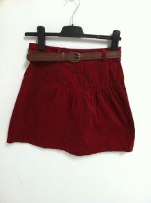 Jupe courte rouge taille 34 marque camaieu