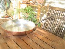 Poêle en cuivre étamé