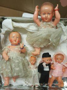 Lot de poupée mignonnette ancienne