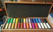 Coffret en bois 30 pastels rembrantd neuf