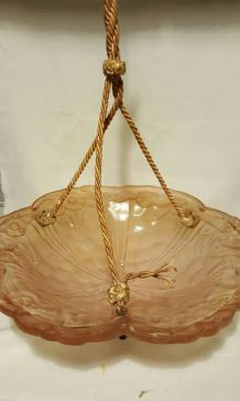 Ancien plafonnier pate de verre degue