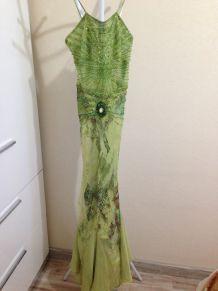 Robe de soiree verte