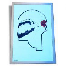 """Miroir Vintage """"Femme à la Rose"""""""