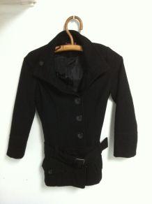 Manteau court caban noir 10 ans