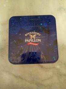 BOITE EN METAL ROQUEFORT PAPILLON