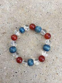 Bracelet perles de verre et cornaline