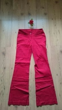 Jean flare rouge H&M Divided