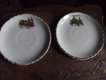 lot 5 assiettes tacots anciens