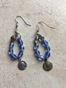 Boucles d'oreilles médailles religieuses