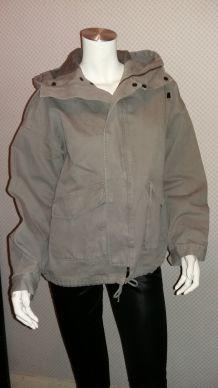 Blouson à capuche coton gris COMPTOIR DES COTONNIERS 38