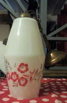 Lustre en Opaline blanc - vintage 60