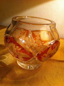 Vase (bonbonnière) en cristal
