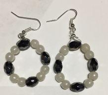 Boucle perles en opaline et cristal
