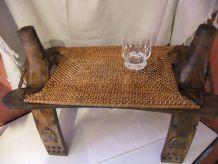Décoration /Table D'appoint / Selle de chameau Véritable