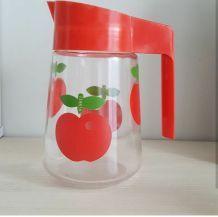 Pichet Henkel pomme rouge vintage