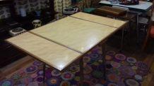 Table en bois et formica vintage