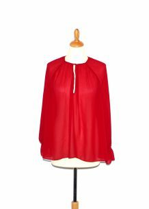 Blouse plissée bordeaux Zara Trafalux Taille S neuf