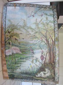 Panneau mural fin XIXème à restaurer