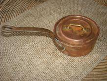 Cuivre cassolette + couvercle
