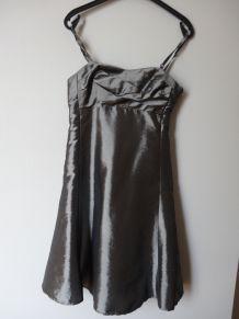 Robe de soirée gris métallisé