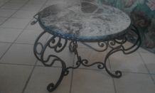 TABLE FER FORGE ART DECO