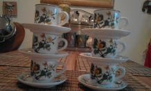 Tasses avec soucoupes Botanica