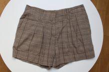 Mini short en coton à carreaux