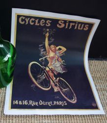 Affiche publicitaire Cycles Sirius