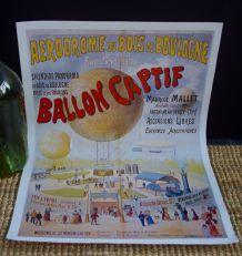 """Reproduction affiche publicitaire """"ballon captif Paris"""""""