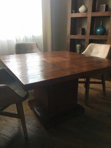 Table de Salle à manger Teck et Bambou