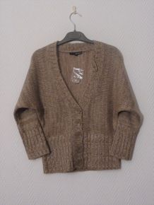 Gilet Beige Manches 3/4 - Taille Xs= 34/36 - Neuf - Tally Weijl