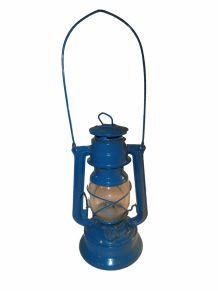 Lampe tempête à pétrole bleue Meva n° 384